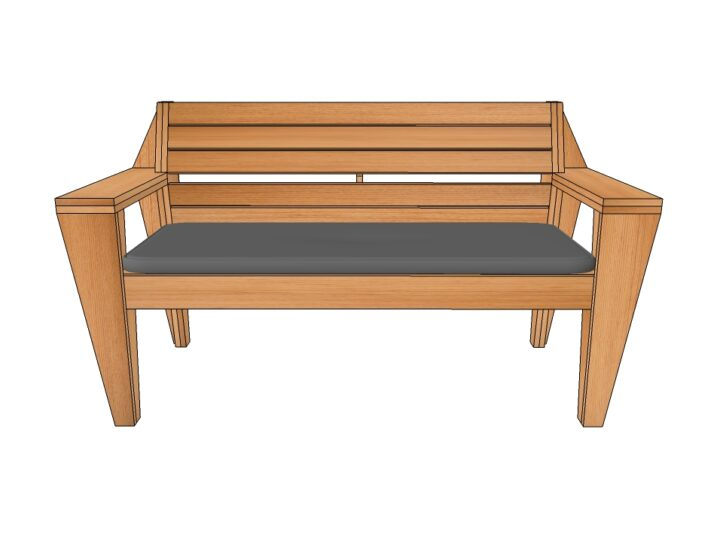 Preview Drawing DIY garden bench 'Turbon'