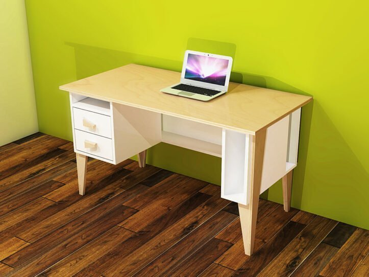Drawing DIY plan desk | workbench 'Leon'