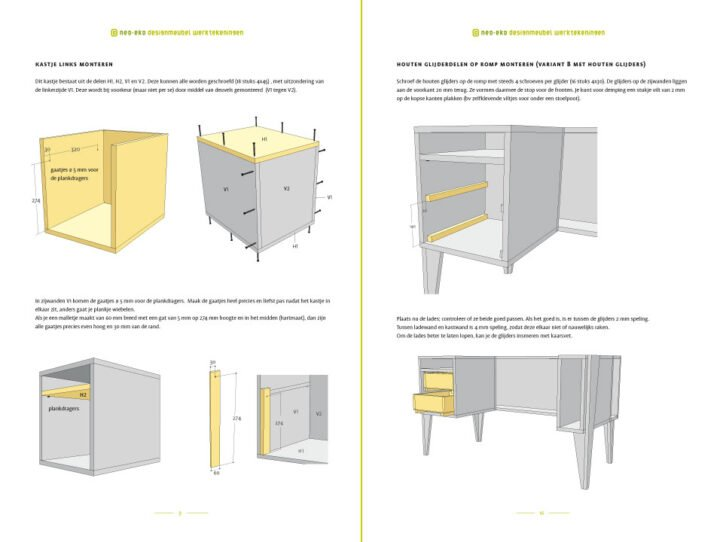 Preview Drawing DIY plan desk | workbench 'Leon' 2-pages
