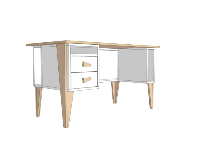 Drawing DIY plan desk | workbench 'Leon'