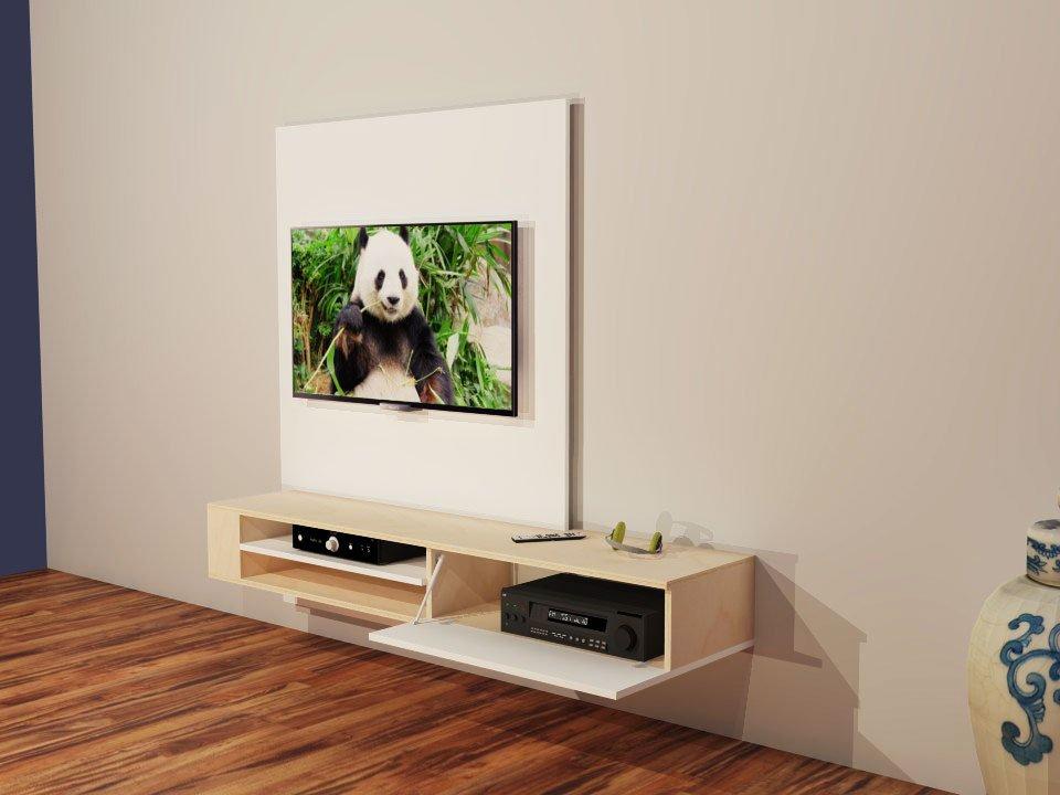 Zelf Gemaakt Tv Meubel.Furniture Plan Build Your Own Modern Design Tv Unit