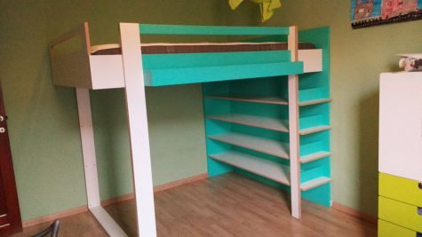 Photo DIY plans double loft bed 'AnaXL' by