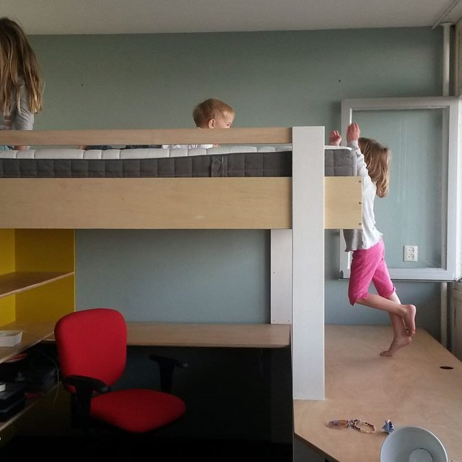 DIY double loft bed AnaXL by Theo