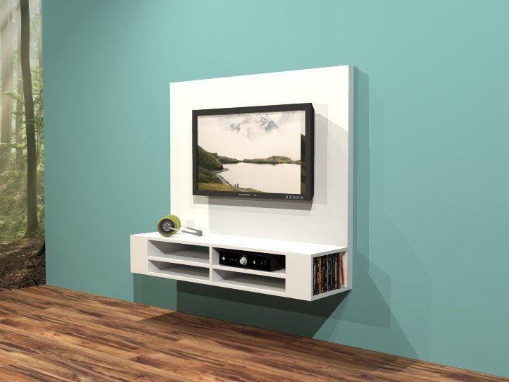 Diy Floating Tv Stand Cabinet Unit Penelope Furniture Plan
