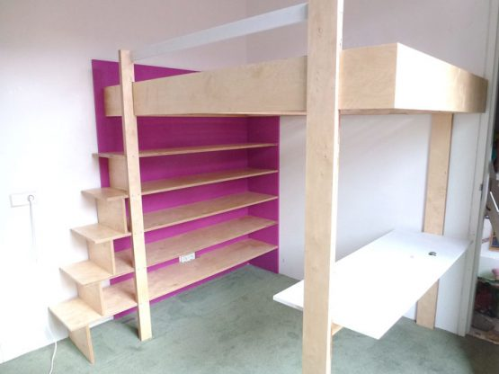 Nieuw DIY design loft bed 'Ana' furniture plan XW-21