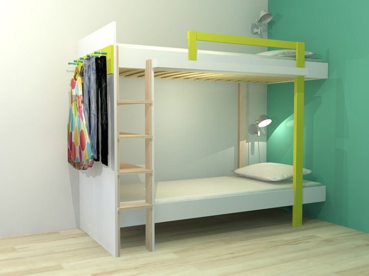 Verbazingwekkend DIY design bunk 'Mila' furniture plan FN-75