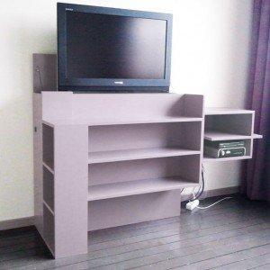 DIY TV stand with lift 'Javier' made by