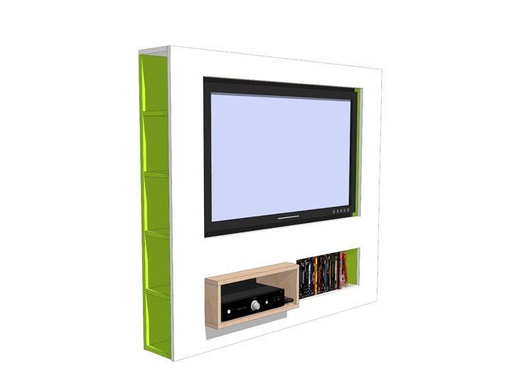 Drawing DIY plan TV Stand 'Antonio'