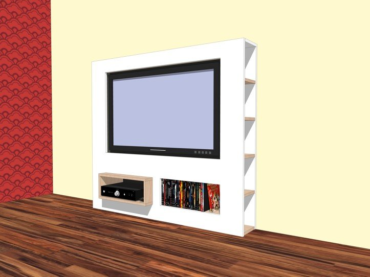 Wand Tv Meubel.Furniture Plan Diy Modern Tv Stand For Plywood Or Mdf