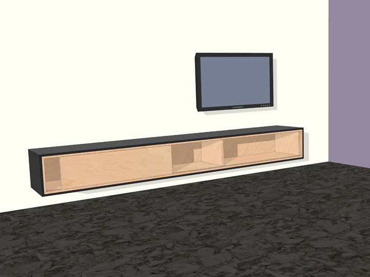 Diepe Tv Kast.Diy Furniture Plan Floating Tv Cabinet Arturo For Plywood Or Mdf