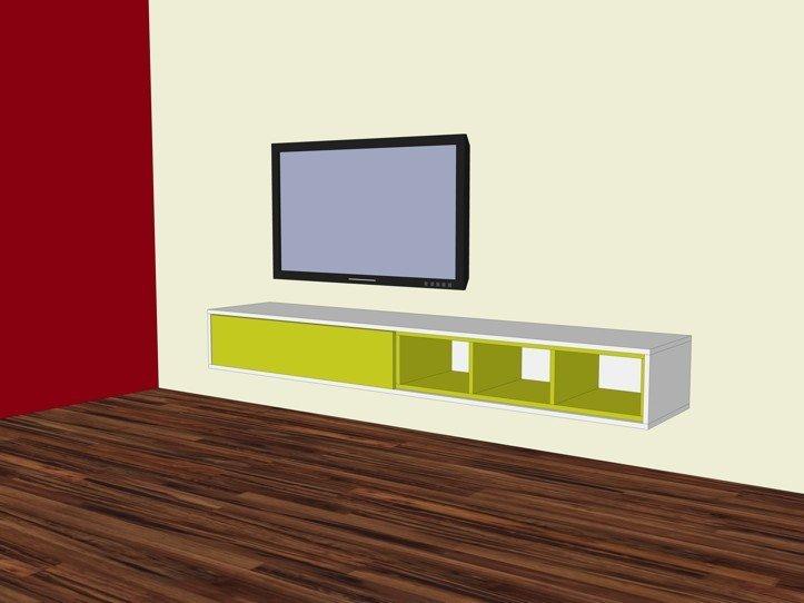 DIY floating TV cabinet 'ArturoXL'