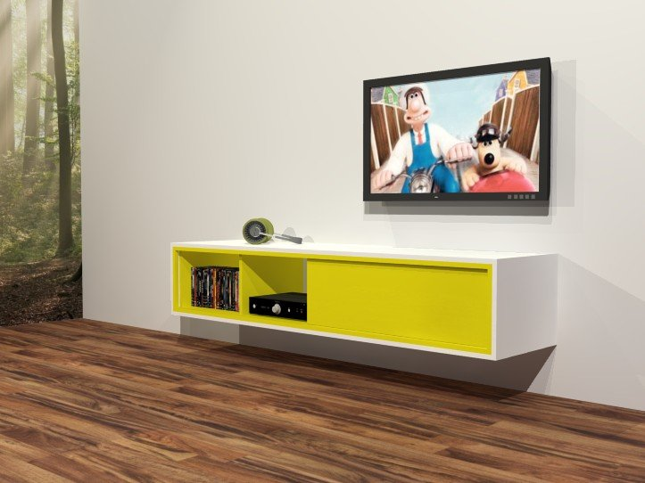 DIY Wall Mounted TV Stand Arturo Furniture Plan