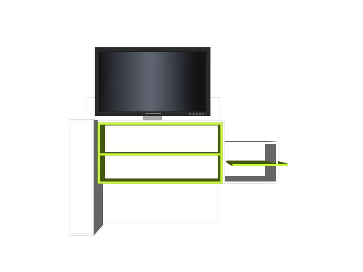 Drawing DIY TV stand with lift 'Astor'