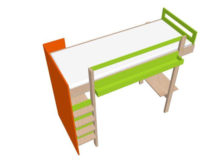 Drawing DIY loft bed 'Ana'