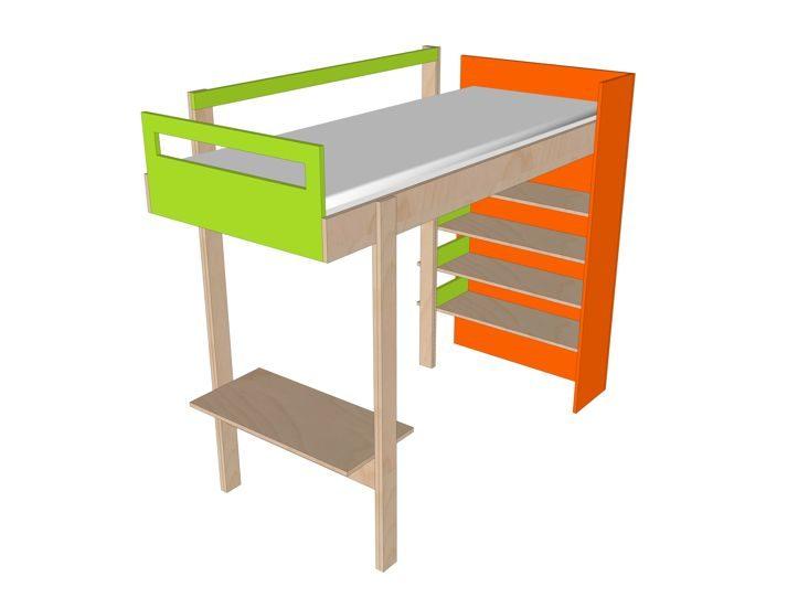 Wonderbaar DIY design loft bed 'Ana' furniture plan JX-66