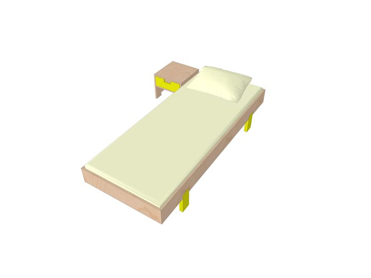 Building drawing single bed Sol