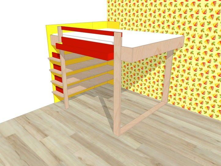 Wonderbaar DIY design double loft bed 'AnaXL' furniture plan LS-55