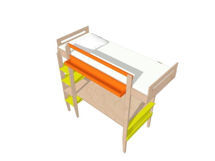 Drawing DIY loft bed 'Wolf'