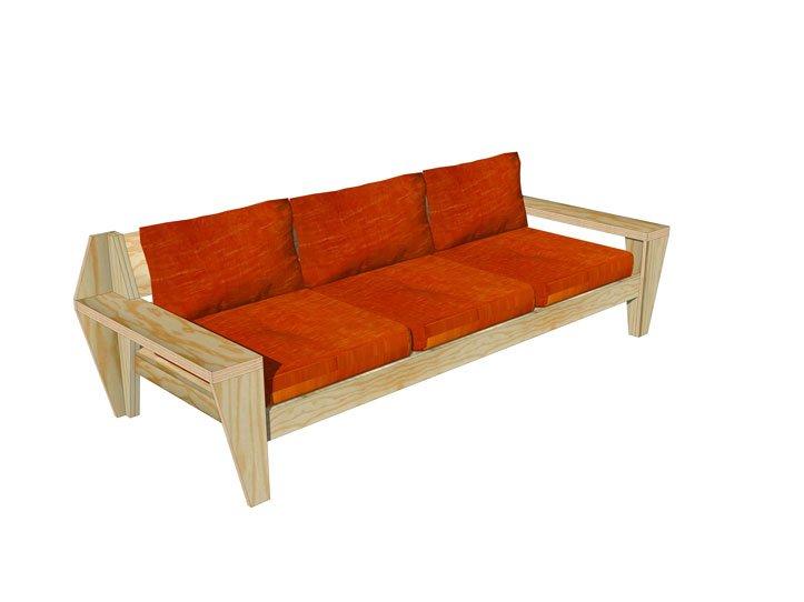 Drawing DIY outdoor, garden lounge sofa furniture plans