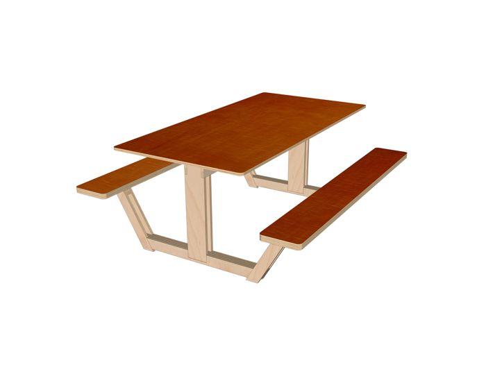 DIY design picnic table 'Ordesa' drawings | plan