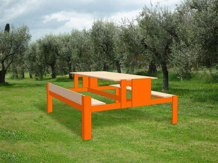 Drawing DIY garden picnic table 'Urbion'