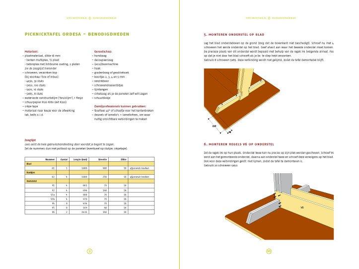 preview-DIY design picnic table 'Ordesa' drawings | planpreview-tekening-picknicktafel-urbion 2-pages