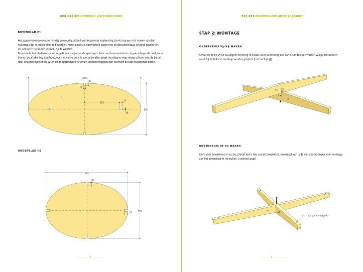 Preview Drawing DIY plan coffee table 'Leon' 2-pages