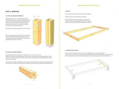 Preview DIY modern table 'Cuco' drawings | plan 2-pages