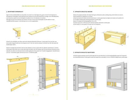 Drawing Furniture Plan DIY TV Stand 'Antonio' 2-pages