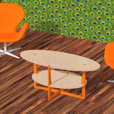 Drawing DIY plan coffee table 'Leon'