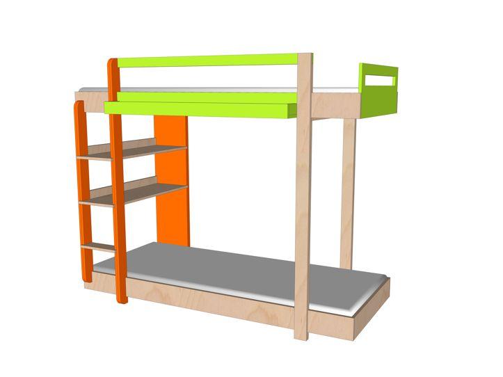 Drawing DIY plans bunk bed 'Thor'