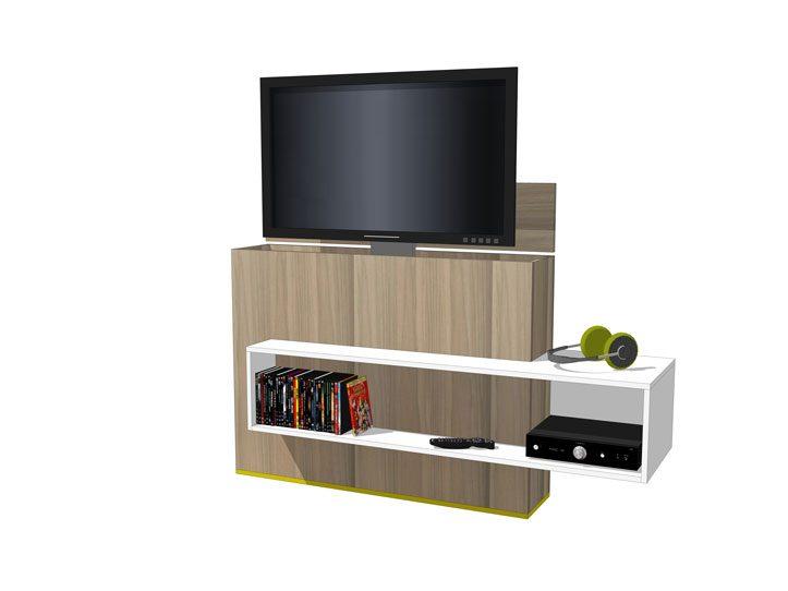 Tv Dvd Kast.Diy Furniture Plan For Design Tv Stand With Lift Astor