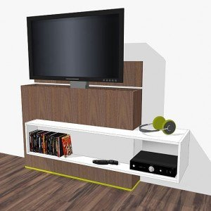 video montage tv-stand with elevator Astor