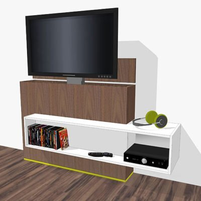 tv-stand with lift Astor DIY