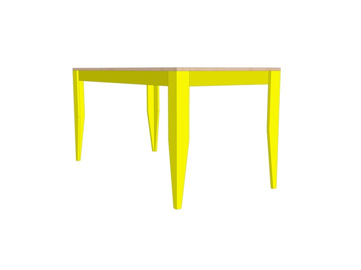 DIY modern table 'Cuco' drawings   plan