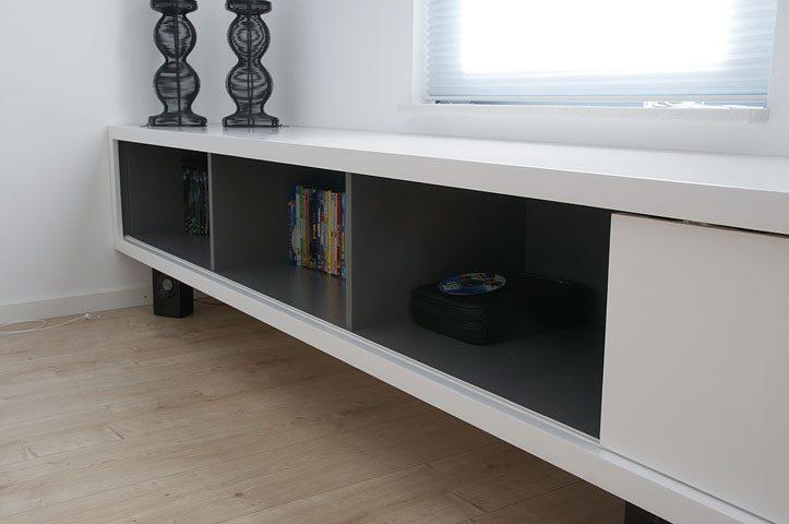 Modern Tv Meubel Zwart.Diy Furniture Plan Floating Tv Cabinet Arturo For Plywood Or Mdf