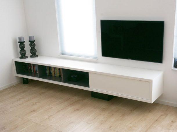 Tv Meubel Licht Eikenhout.Diy Furniture Plan Floating Tv Cabinet Arturo For Plywood Or Mdf