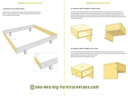 build your own double bed furniture plan preview Azobe