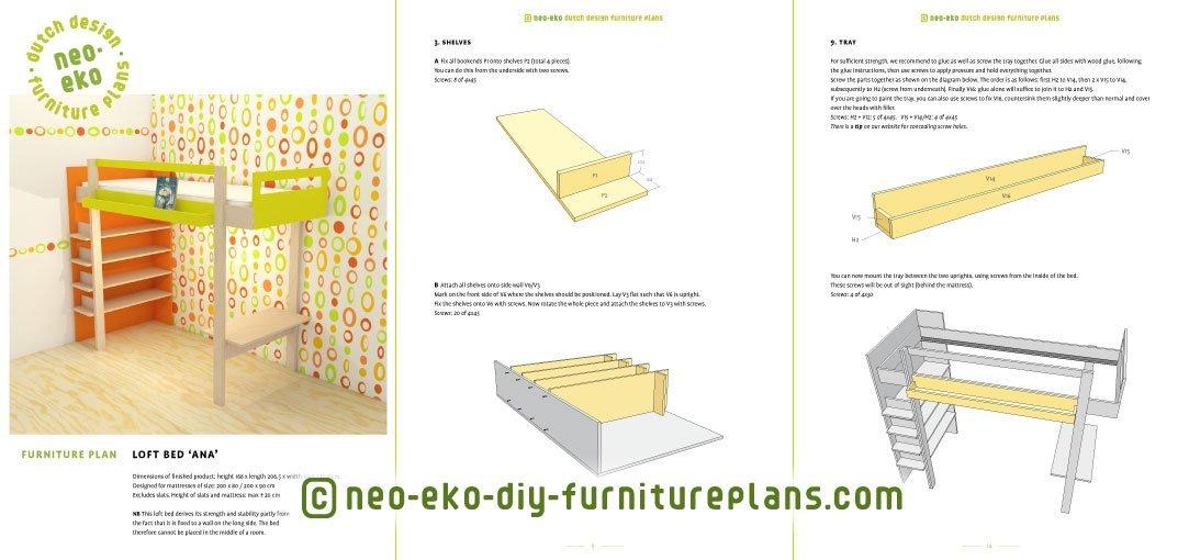 diy dutch design loft bed preview Ana