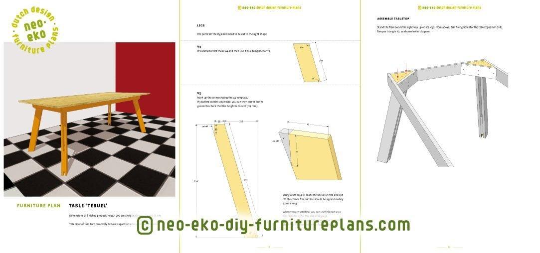 diy dutch design table Teruel preview
