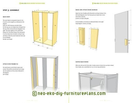 diy wardrobe kids furniture plan preview Leon