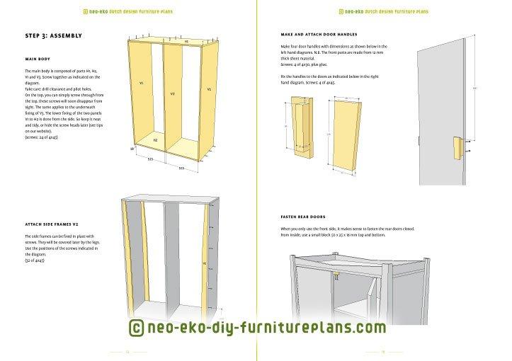 diy wardrobe kids furniture plan preview Leon