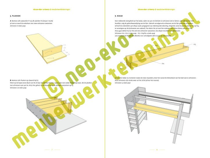 Preview DIY Loft bed 'Ana' 2-pages