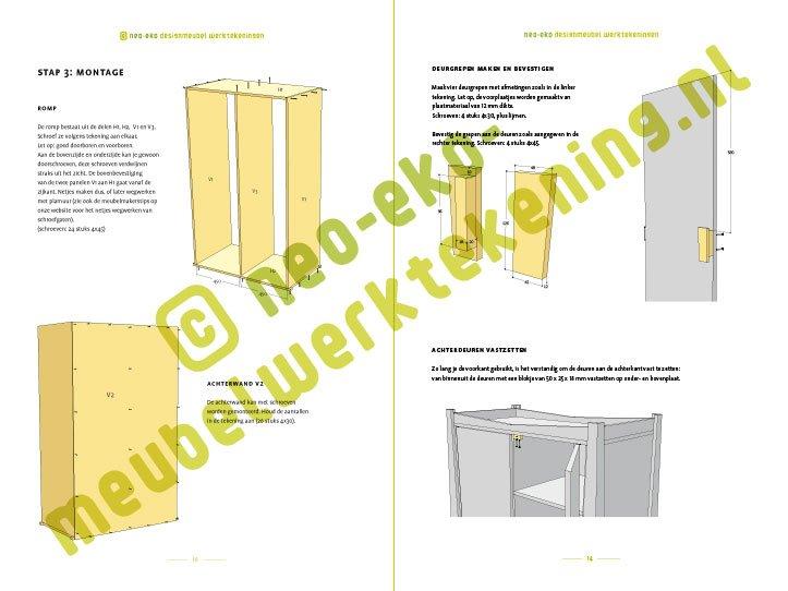 Preview-Drawing DIY plans closet 'Leon' 2-pages