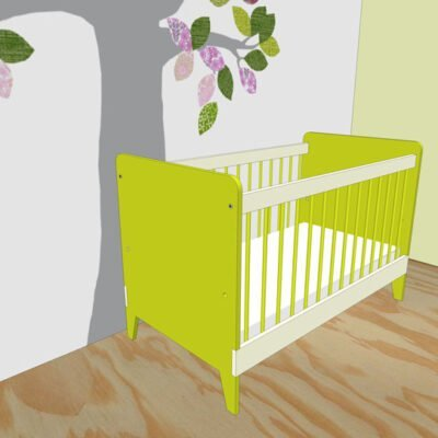 Impression construction drawing: making cot Nicole yourself