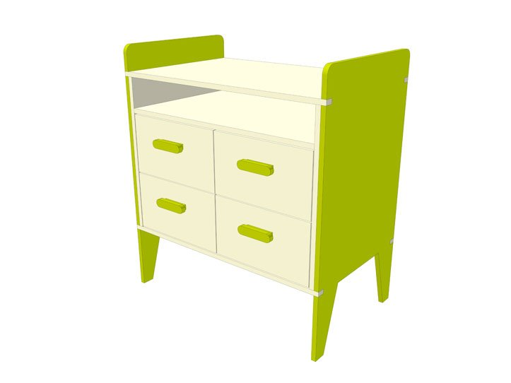 make children's room chest of drawers yourself with building plan