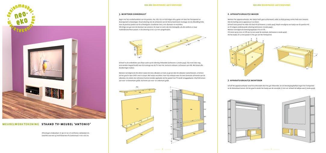 Design Tv Meubel Kast.Furniture Plan Diy Modern Tv Stand For Plywood Or Mdf
