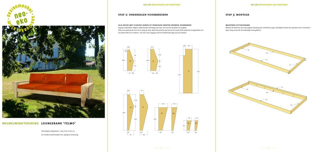 Preview drawing DIY outdoor sofa 'YelmoXL' 3-pages