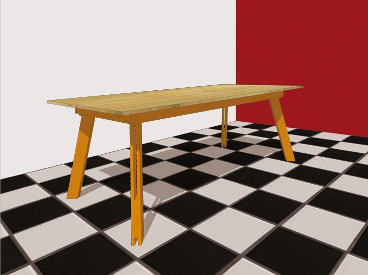 DIY modern table 'Teruel' drawing