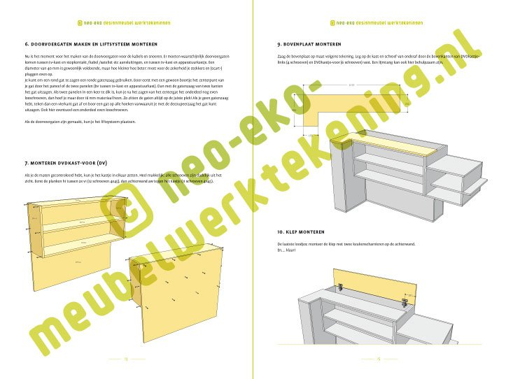 Preview DIY tv stand with lift 'Javier' 2-pages